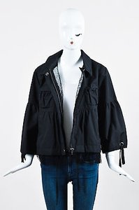 RED Valentino Nylon Black Jacket