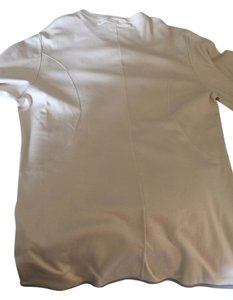 Prada T Mens Xxl T Shirt Cream with Grey piping