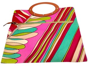 Kate Spade Tote Stripe Red Multi Clutch