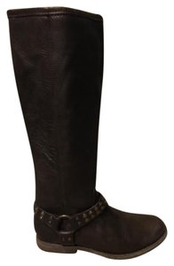 Frye Studded Leather Brown Boots