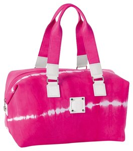Longchamp Limited Edition Tie-dye Leather Tote Japan 2011 Fuchsia Travel Bag