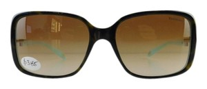 Tiffany & Co. New Tiffany & Co. Sunglasses TF 4043B 8134/3B Top Havana Acetate Full-Frame Brown Gradient Lens 56mm Italy