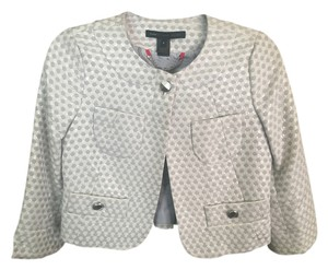 Marc by Marc Jacobs Silver Blazer Silver, white Jacket