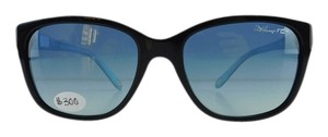 Tiffany & Co. New Tiffany & Co. Sunglasses TF 4083 8001/4L Black Acetate Full-Frame Blue Gradient Lens 56mm Italy