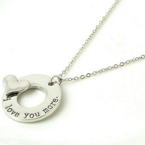 Mother Daughter Cz Diamond I Love You More Infinity Circle Karma Child Single Sister Heart Puzzle Mom Letter Words Chain