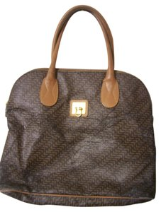 Lancel Leather Tote in Brown
