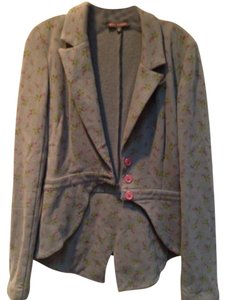 Betsey Johnson Coat Tails Gray Jacket