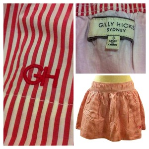 Gilly Hicks Mini Skirt Red & White Stripe