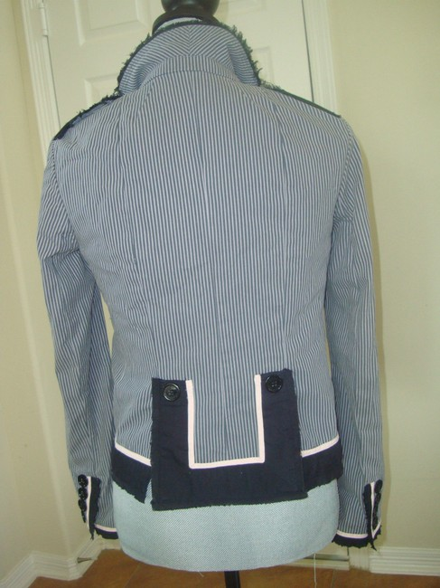 Marc by Marc Jacobs Striped Pink, Navy, Gray Blazer Image 1