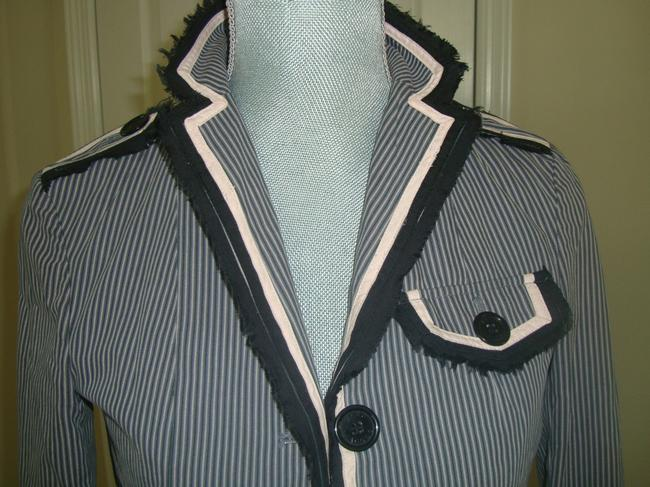Marc by Marc Jacobs Striped Pink, Navy, Gray Blazer Image 2