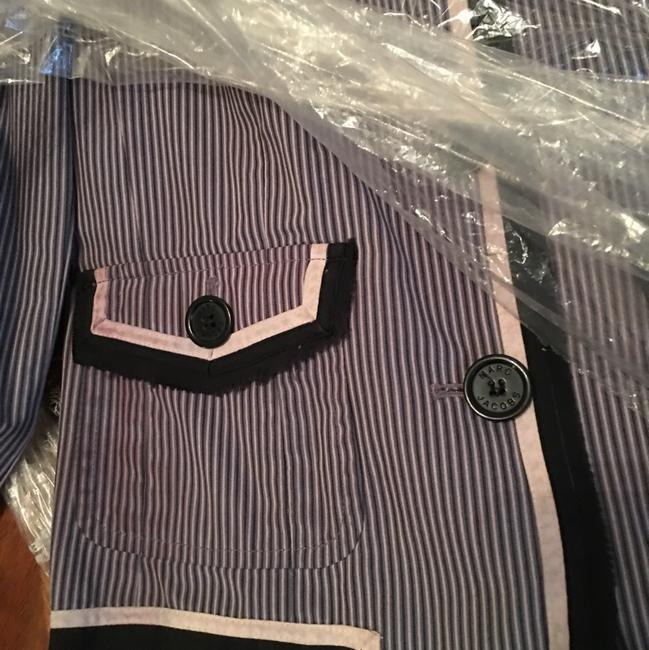 Marc by Marc Jacobs Striped Pink, Navy, Gray Blazer Image 3