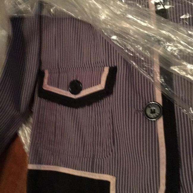 Marc by Marc Jacobs Striped Pink, Navy, Gray Blazer Image 4
