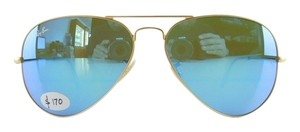 Ray-Ban New Ray-Ban Sunglasses RB 3025 112/17 Matte Gold Aviator Green Multi Blue Mirror Lens 58mm Italy