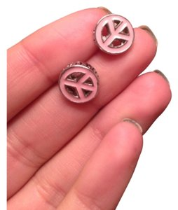Juicy Couture Light Pink Juicy Peace Sign Studs