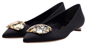 Rupert Sanderson Rubert Bedfa Mood Black and Gold Flats