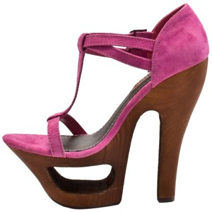 Two Lips Pink Platform Womens Fuschia Sandals