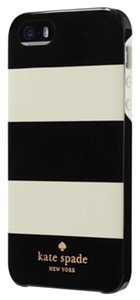 Kate Spade Kate Spade Hardshell Hybrid Black and White Stripe Case Cover iPhone 5/5S