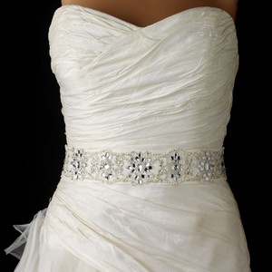 Keira Elegant Pearl Sequins & Beads Wedding Bridal Sash Or Headband