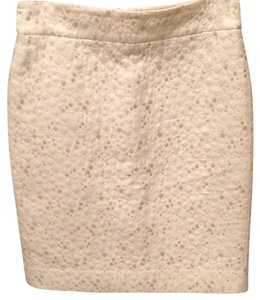 J.Crew Skirt Cream with gold accent