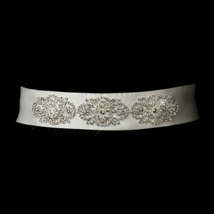 Aisling Crystal & Rhinestones Vintage Wedding Bridal Sash - Belt