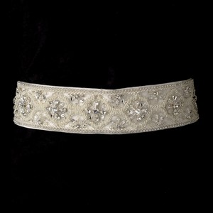 Adelle Spectacular Crystal & Bugle Beaded Wedding Bridal Sash - Belt