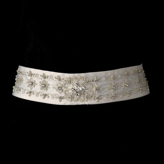 Bijou Rhinestone & Beads Floral Wedding Bridal Sash - Belt
