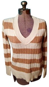 Ann Taylor LOFT Wool Rabbit Hair Stripes Sweater