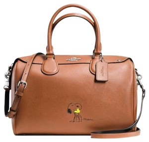 Coach Satchel in Silver/SAddle