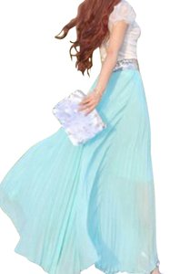 Mint Maxi Dress by Other Maxi Skirt Chiffon