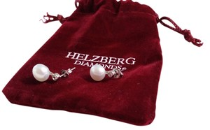 Helzberg Diamonds New Fresh Water Pearl and 925 Sterling-Silver with White Cubic Zirconia Earring