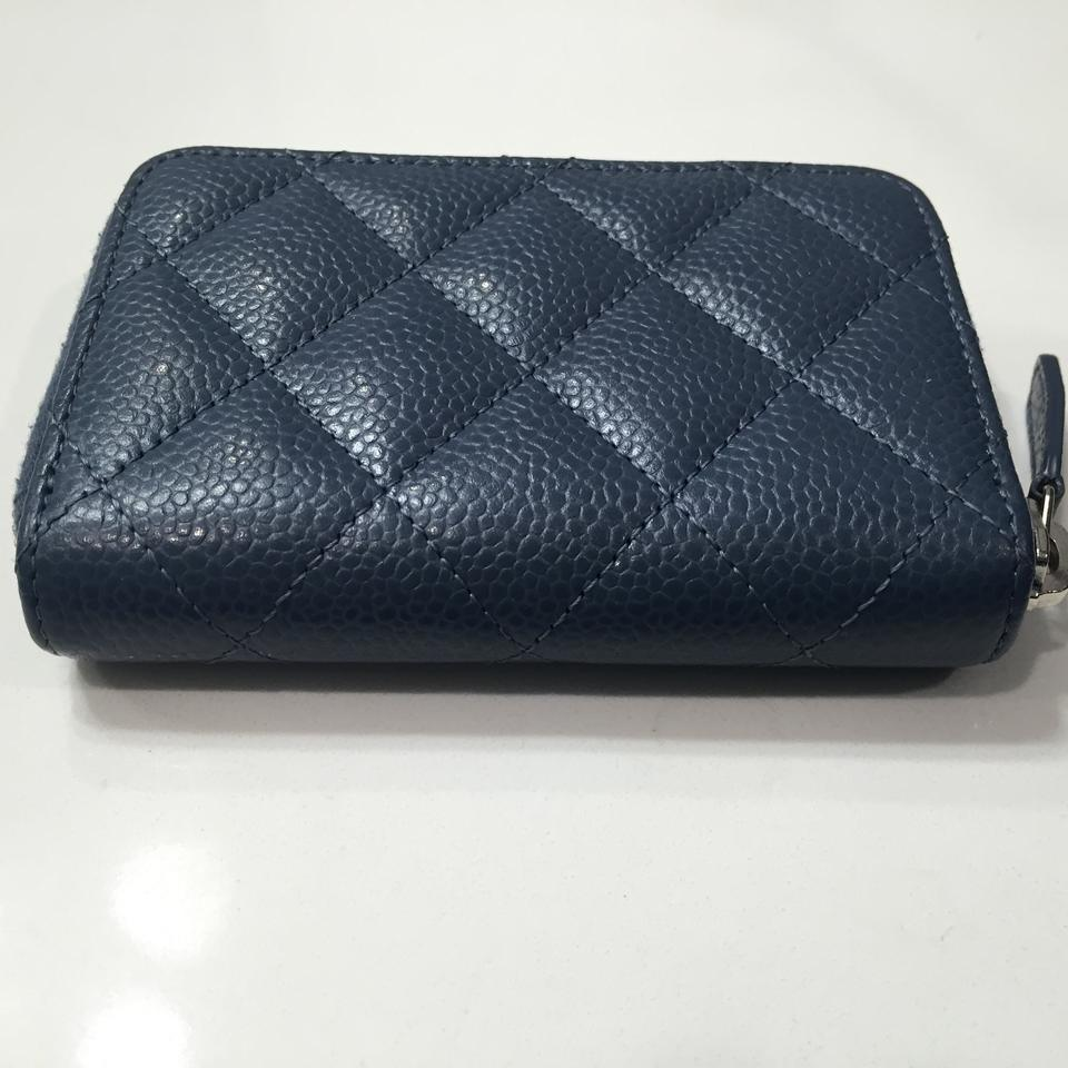 e56b407fd19f Chanel CHANEL Zippy Card Case Coin Purse Blue Caviar SHW Image 7. 12345678