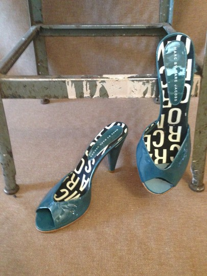 Marc by Marc Jacobs Sandal Heels Patent Leather teal Mules