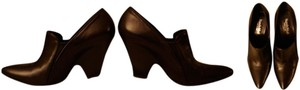 Nando Muzi Leather Wedge.bootie Chloe Black Boots