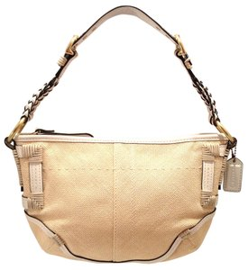 Coach Straw Leather Braided Soho Hobo Bag