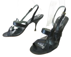 Sigerson Morrison Leather Heels Black Sandals
