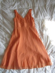 J.Crew Orange Sophia Dress 96455 Dress