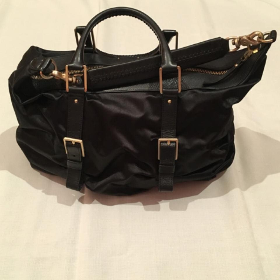 8d51a095103 Botkier Sasha Medium Duffel Black Lambskin + Satin Hobo Bag - Tradesy