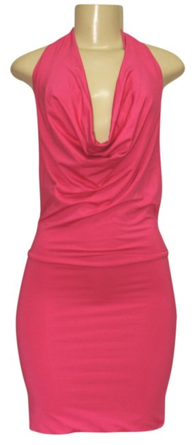 Preload https://img-static.tradesy.com/item/1224268/pink-fitted-halter-neck-and-sexy-back-color-above-knee-night-out-dress-size-4-s-0-0-650-650.jpg