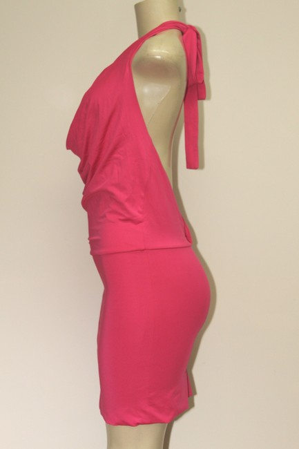 DOUBLJU Fitted Halter Neck And Sexy Back Color: Size: S Dress Image 2