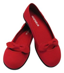 Andrea New Size 7.50 M (usa) Excellent Condition Red Flats
