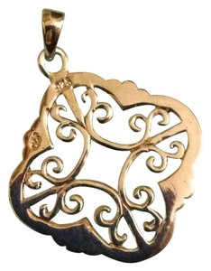 Sterling 925 pendant scroll design w/out chain