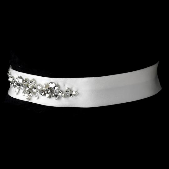 White Or Ivory Darcia Crystal Pearl Belt Sash