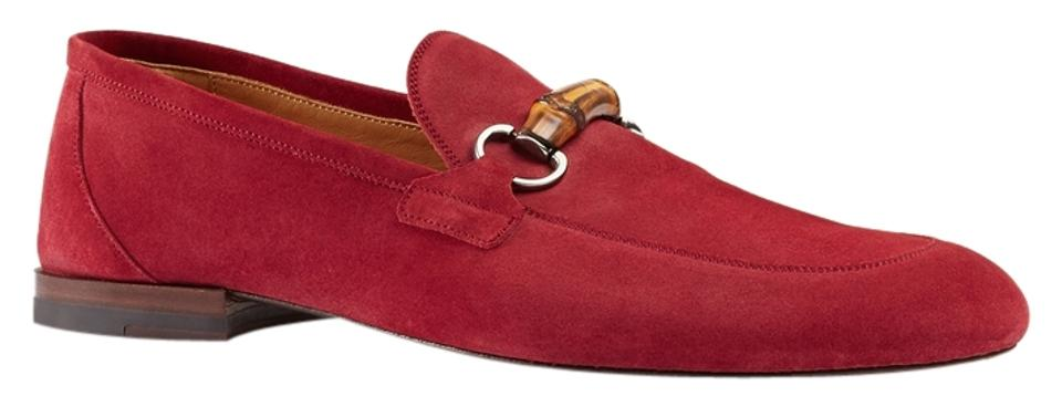 77658350c2d Gucci Men Man Men s Loafers Loafer Suede Bamboo Horsebit Style 368435 Cma00  6334 Size 9 10 ...