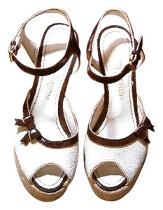 Louis Vuitton Wedge Sandals Off White Wedges