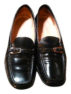 Bally Leather Black Flats