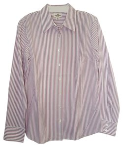 J.Crew Button Down Shirt pink and white pinstripe