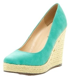 Michael Antonio Braided Teal Wedges