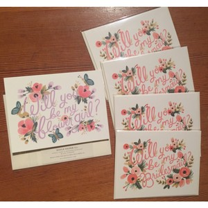 Blush Pink/Pink/Purple Bridal Party Cards - New