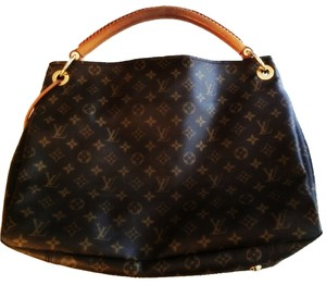 Louis Vuitton Artsy Gm Hobo Leather Canvas Braided Leather Handle Lv Shoulder Bag