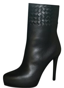 Bottega Veneta Leather Suede Black Boots